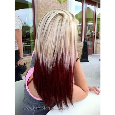 blonde hairstyles polyvore crimson and blonde hair colors ideas liked on polyvore