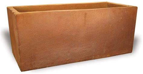 rectangular planter black clay vp437 440 wholesale