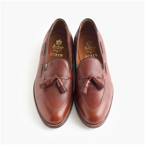tassel loafers brown alden tassel loafers in brown for lyst