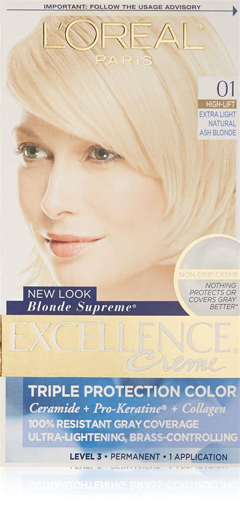 l oreal excellence creme permanent hair color ash 7 1 1 74 oz walmart l oreal excellence supreme protection color creme light ash