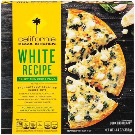 California Pizza Kitchen White Pizza by California Pizza Kitchen Crispy Thin Crust White Pizza
