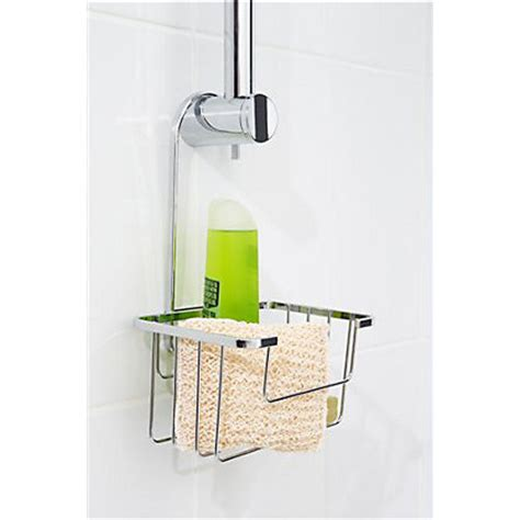 homebase bathroom accessories hook riser rail basket chrome
