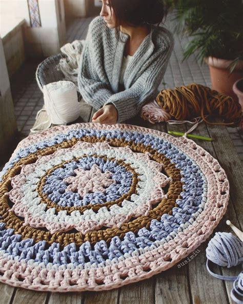 alfombra ganchillo alfombra de crochet susimiu trapillo ganchillo