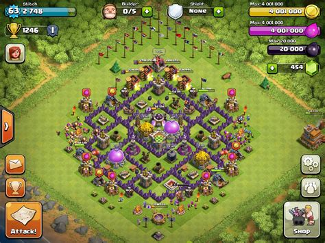 townhall 7 base town hall 7 farming bases clash of clans