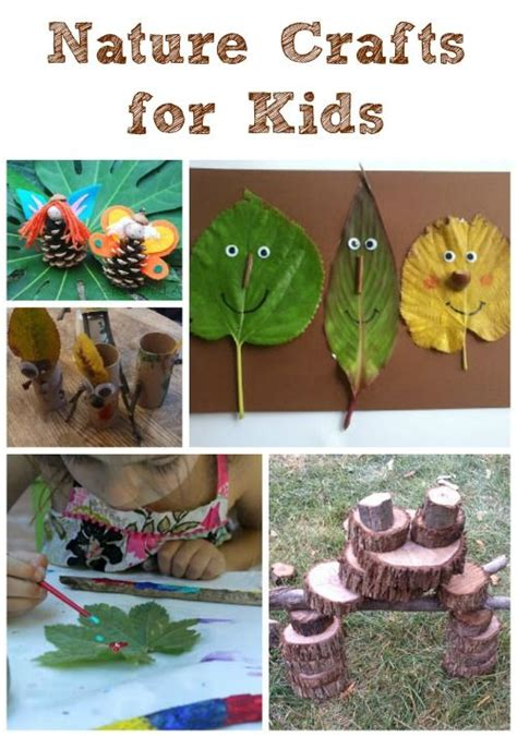 backyard nature outdoor nature crafts for kids creative activities and art nature