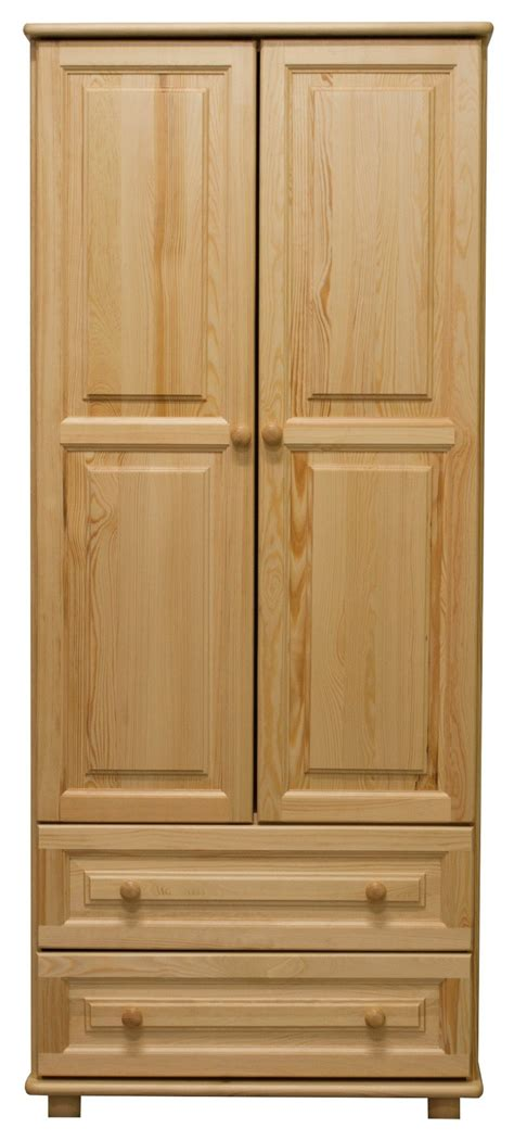 Pine Wood Wardrobes by Wardrobe 010 Solid Pine Wood Clearly Varnished 2 Doors