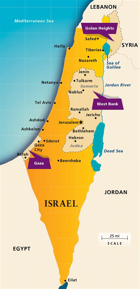 map of isreal maps israel today aipac org