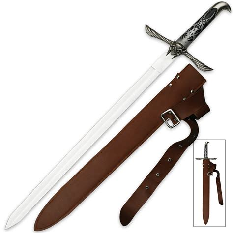 belt sheath winged skull sword with belt sheath kennesaw cutlery