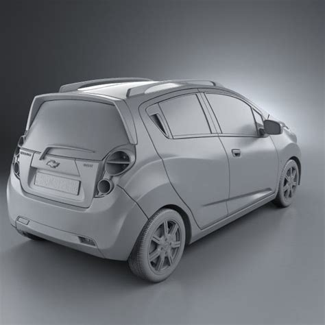 Chevrolet Models 2010 Chevrolet Spark Beat 2010 3d Model Hum3d