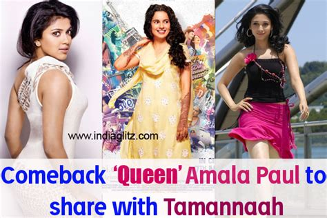 malayalam movie queen actor photos comeback queen amala paul to share with tamannaah