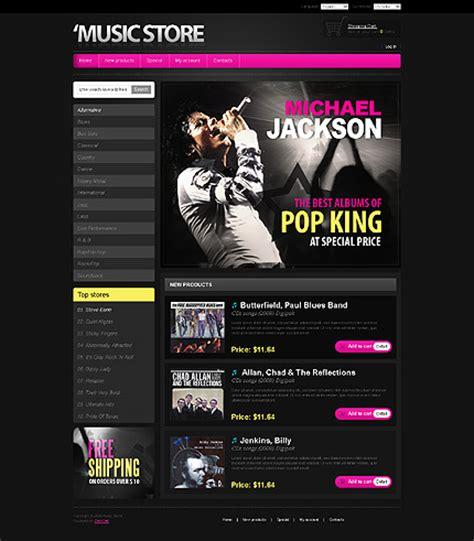 Template 25001 Store Shop Zencart Template Best Website Templates For Musicians