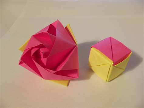 Origami Cube Pdf - origami how to make an origami magic cube valerie