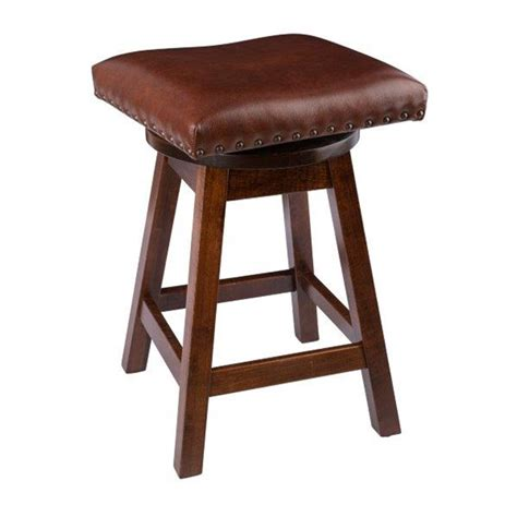 Maple Bar Stools With Leather Seats rustic bar stool swivel stool in maple wood with