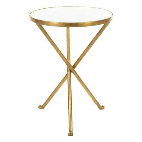 gold accent table mary marble accent table in white and gold fox2504a