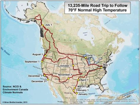 road map western canada and usa a year road trip where the temperature is always 70 186 f