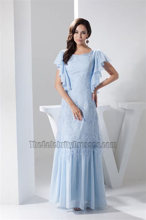 baby blue floor l light sky blue lace floor length prom gown evening dress