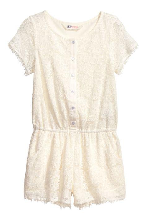 Jumpsuit Pendek Tali Bh 27 lace jumpsuit white sale h m us