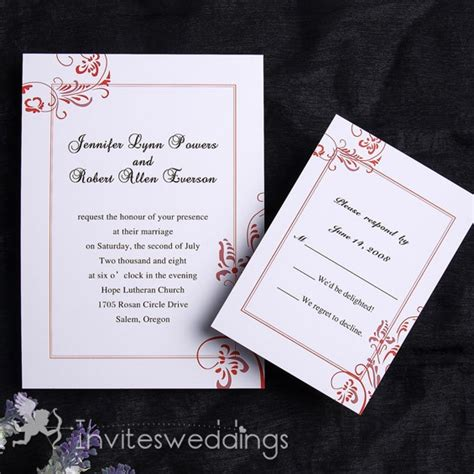 Wedding Invitations Simple by Austere Simple Wedding Invitation Iwi106 Wedding