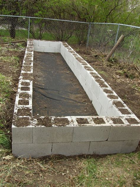 cinder block raised bed raised garden beds cinder blocks building a raised bed