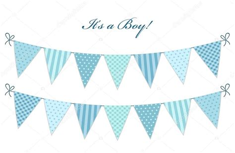 Baby Shower Flag Banner by Flags For Boy S Baby Shower Stock Vector 169 Ishkrabal
