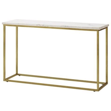 brass sofa table isabelle marble sofa table with brushed brass legs