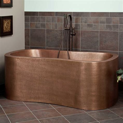 63 quot akela copper freestanding tub