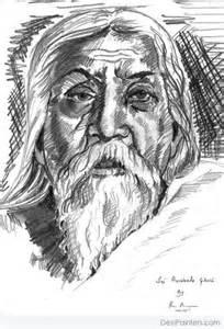 pencil sketch of sri aurobindo ghosh desipainters com