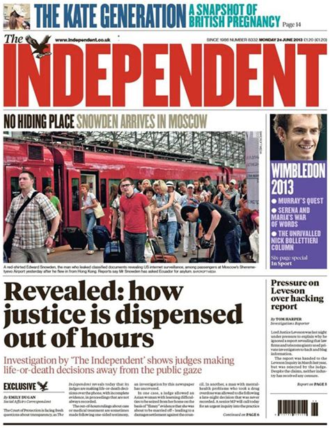 sunday independent jobs section independent on the run after edward snowden photo gaffe