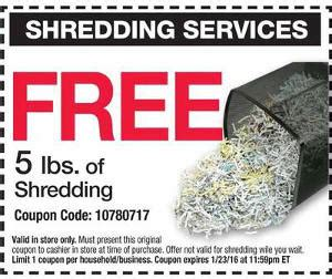 office depot coupons locations 5 free lbs of document shredding at office depot