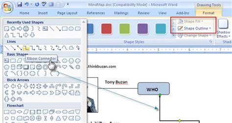 microsoft diagram tool how to build a mind map in microsoft word