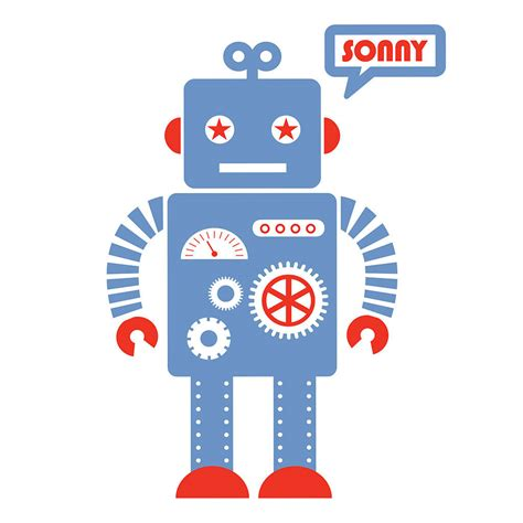 robot wall sticker personalised robot wall sticker by koko notonthehighstreet