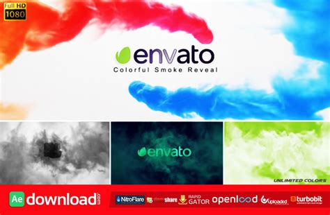 after effects templates free smoke colorful smoke reveal free download videohive template