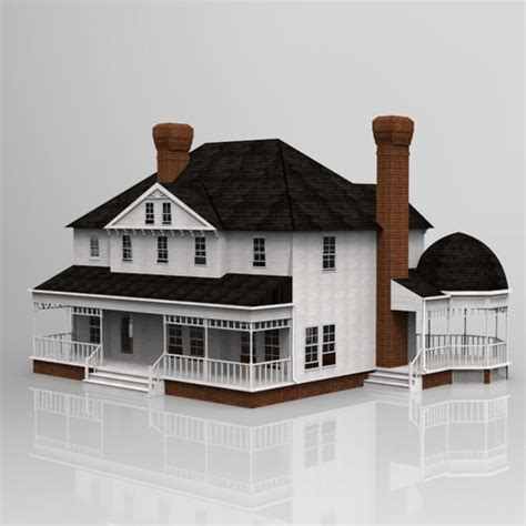 3d model ad house exterior cgtrader victorian house 3d model cgtrader