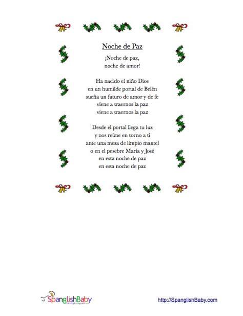 Printable Lyrics To Noche De Paz   related keywords suggestions for noche de paz lyrics