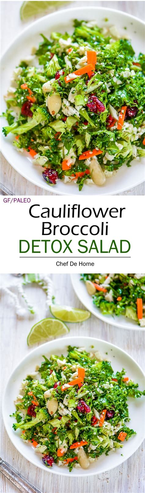 Celery Detox Salad by Cauliflower And Broccoli Detox Salad Recipe Chefdehome
