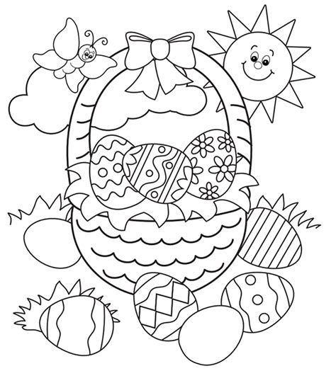 Free Easter Color Pages free easter colouring pages the organised
