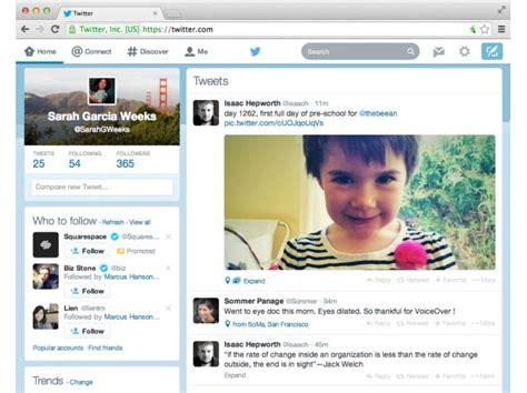 twitter layout app twitter redesigns desktop website to look feel like its