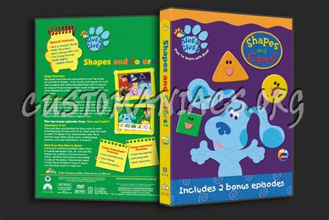 shapes and colors band blue s clues shapes and colors dvd cover dvd covers