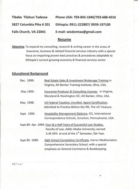 Enrolled Agent Resume Sample by Tebebe1 Updated Resume Pdf