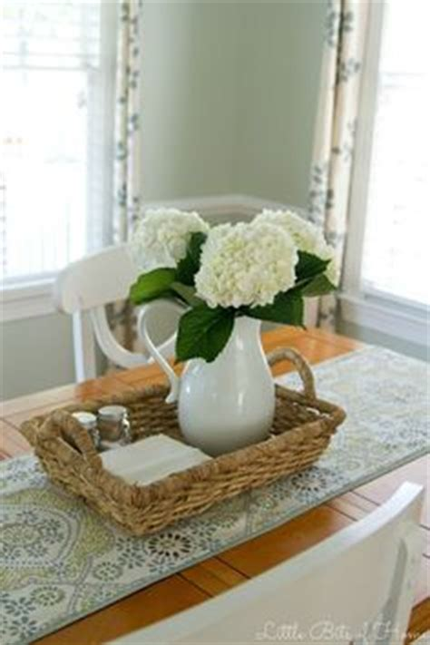 kitchen table centerpiece ideas for everyday nothing like a big hydrangea bunch on the table top beautiful blooms floral