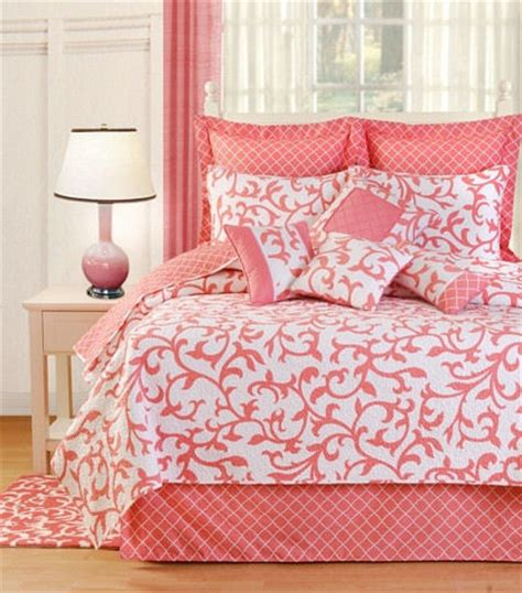 coral twin bedding serendipity coral quilt and bedding