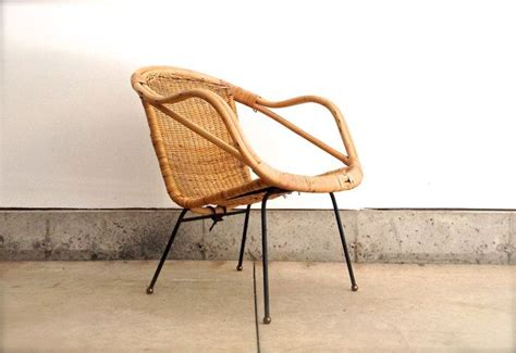 En Rotin 927 by Mid Century Rattan Chair Vintage Furniture Arthur