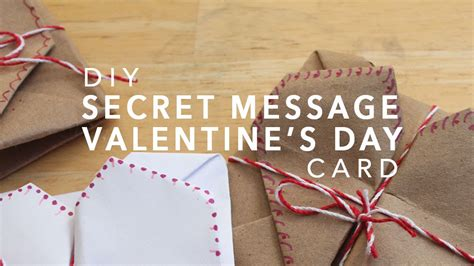 secret s day messages diy secret message s day card origami