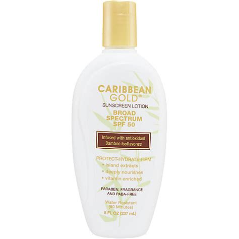 Suncreen Gold Spf 50 caribbean gold spf 50 sunscreen lotion