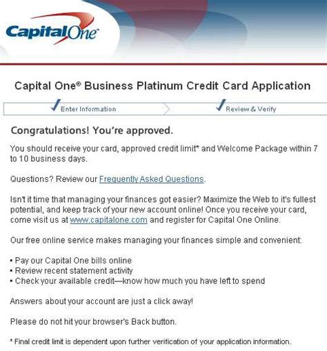 Capital One Credit Letter The Hassle Of Applying For A Pre Approved Business Card Offer