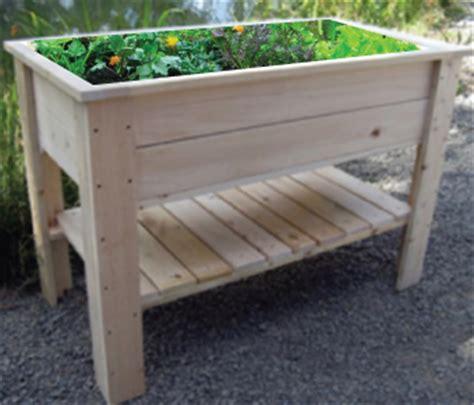 standing planter box raised garden kit urban farmer