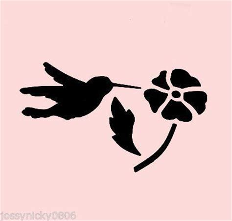 printable hummingbird stencils hummingbird stencil bird birds flower flowers craft