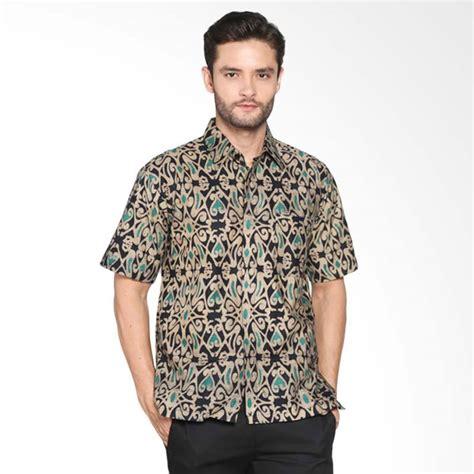 Baju Kemeja Lengan Pendek Pria Batik Maroon Abstrak Tribal Slimfit jual blitique abstrak kemeja batik pria navy