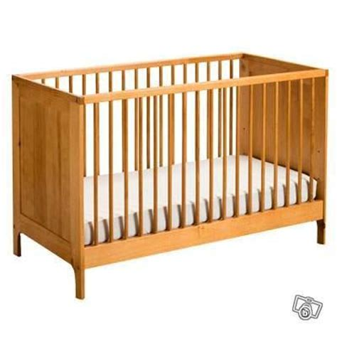 lit bebe barreaux bois visuel 2