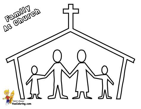 Coloring Pages Of Families Going To Church Coloring Home Coloring Pages For Children S Church